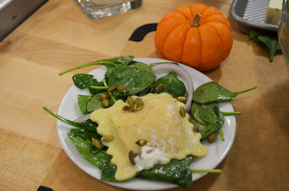 Fresh and Easy: Ravioli Salad with Warm Brown Butter Dressing