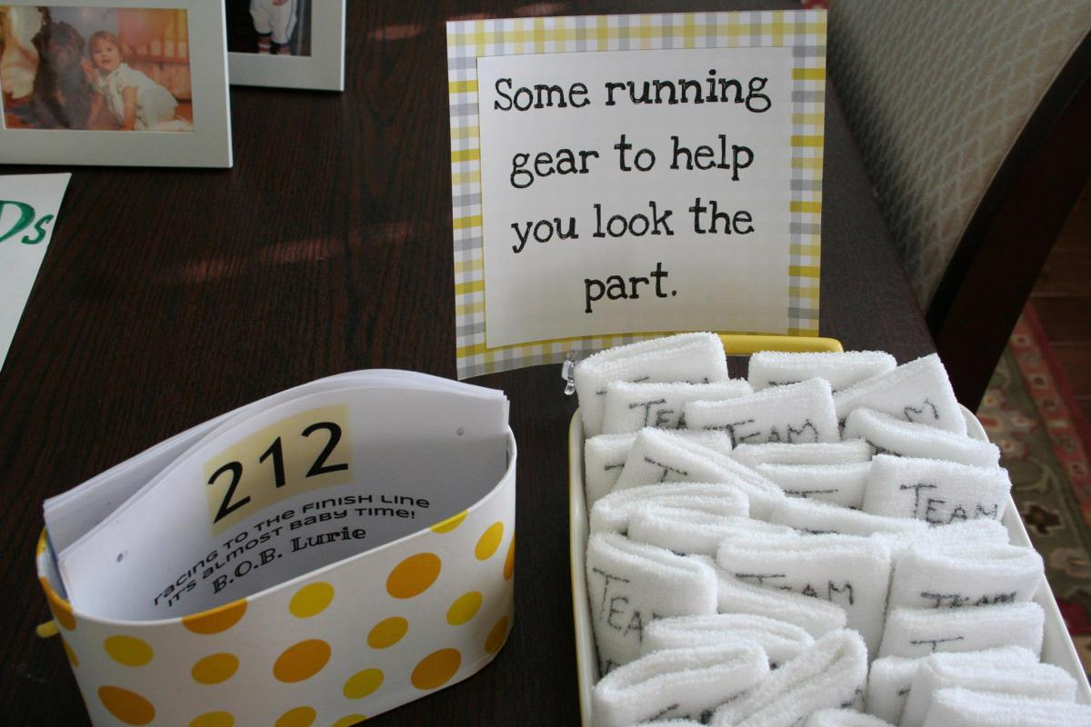 Race to the finish! A running mom-to-be's baby shower
